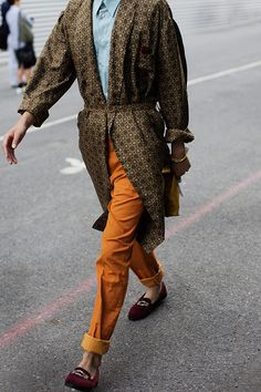 dries van noten street style, orang, fashion styles, men style, colors, bed, style men, color combinations, streetstyl