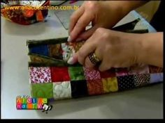 Patchwork Ana Cosentino: Estojo Watercolor