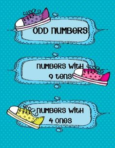 Here's a packet with materials for sorting numbers by In the number sense sort, students will categorize 18 numbers by determining if they are odd, have a 9 in the tens place, or have a 4 in the ones place. Also includes some literacy sorts.