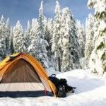 Winter camping with your family