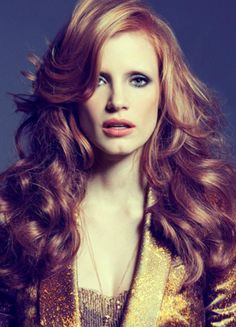 Jessica Chastain. PERFECT copper hair