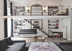 mirror, loft homes, loft apartment new york, modern contemporary decor loft, house interiors, paris interiors, paris loft, house interior design, loft home decor