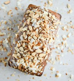 Spiked Almond Joy Poundcake I howsweeteats.com @Jan Howard sweet eats