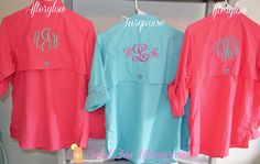 Women's Monogrammed Bahama Columbia PFG Fishing Shirt on Etsy, $65.00 (can possibly find cheaper)