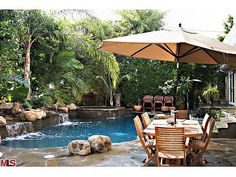 Back Yard Patios For Entertaining WITH SMALL POOL | Great Outdoor Decorating Ideas in Beautiful Patio Design Pictures