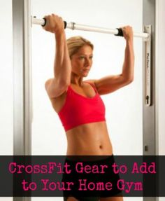 We are quite fond of the crazy CrossFit trend ... and now we can do it in our own home! CrossFit at home, say wha!? | via @Harriet Adkins Bottomed Girls