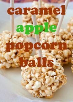 Caramel Apple Popcorn Balls via Todaysmama.com
