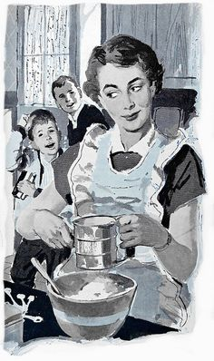 Love classic flour sifters like this - I still use my sometimes (it's great for icing sugar, too). #vintage #homemaker #1950s #mom #kitchen