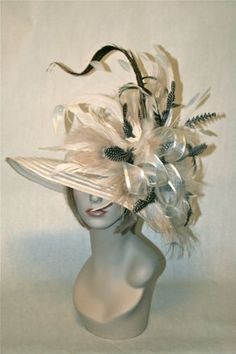 Ivory and natural Kentucky Derby hat