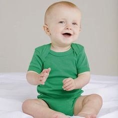Promotional Baby Bodysuits from the renowned Babybugz range, made from soft and stretchy 100% cotton with simple shoulder detailing and poppers for ease of dressing.