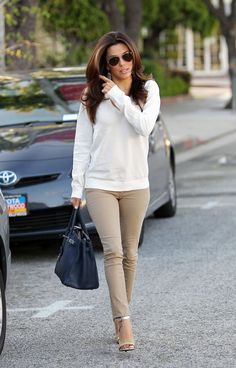 Eva Longoria hair color and style! Going for this this September! Can't wait!