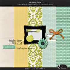 Authentic mini kit freebie from Sabrina's Creations
