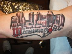 By Omar Yarborough--The Truth Tattoos  #minneapolis #minnesota #mn #tattoo #city scape