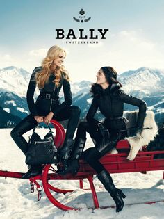 Caroline Trentini  Hilary Rhoda Head to the Alps for Ballys Fall 2012 Campaign by Norman Jean Roy