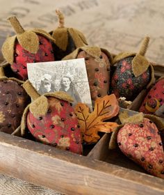 Fall display with handmade berries in autumn colors...