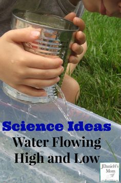 Simple science experiment for kids: What happens when you plug holes on top vs. down low?