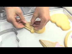 Decorating Cookies Tutorial – Satin Ice Video    This cookie decorating video was shot way back in 2009 with Satin Ice and in the video I demonstrate some fondant application techniques on cookies.    #cookie #decorating #tutorial