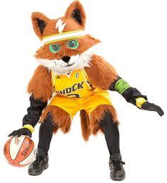 Tulsa Shock mascot: Volt the Shock Fox