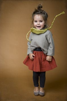 adorable use of offbeat colors.  #designer #kids #estella #fashion