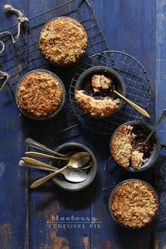 Blueberry Two-Crust Streusel Pie