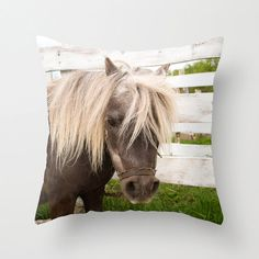 Horse Throw Pillow Cover Photography Print by CrystalGaylePhoto, $35.00