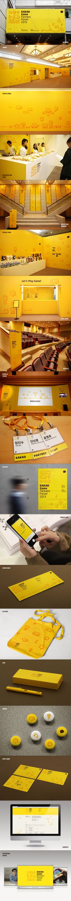 KAKAO Game Partners Forum Brand eXperience Design by Plus X , via Behance. Even #identity #packaging #branding #marketing PD