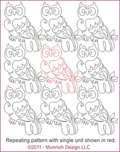 Owl quilting pattern