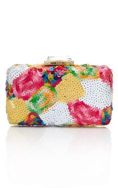 Fiona Kotur Multicolor Sequin Espey Clutch