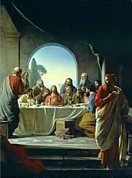 """""""But look! The one who betrays Me is here at the table with Me! The son of man will die as God has decided, but how terrible for that man who betrays Him!""""Then they began to ask among themselves which one of them it could be who was going to do this.Then He tells Judas to do quickly what he must do and Judas leaves. The rest of the disciples think Judas, who holds the purse, was sent to buy something in preparation for the passover festival and did not perceive that he was about to betray Jesus. god, last supper, faith, carl bloch, jesus christ, art, suppers, heinrich bloch, carl heinrich"""