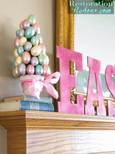 Easter Egg Trees - Restoration Redoux http://www.restorationredoux.com/?p=8235