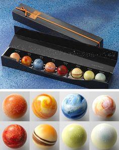 Solar system chocolate
