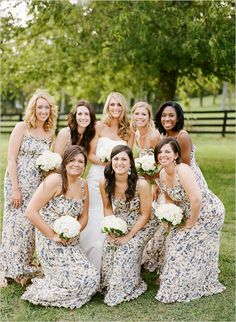floral bridesmaid dresses - love!