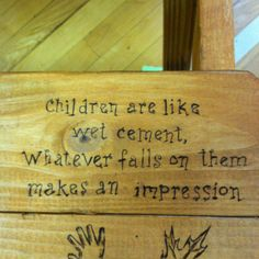 This was burned onto the seat of a picnic table given to the staff at our school.  The pto presented it to them at our annual staff appreciation luncheon.