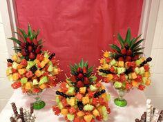 YummyTecture's fruit kebab trees