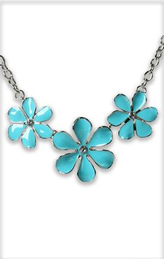 stone #flower silver #necklace $9.37