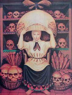 octavio ocampo, skulls, optical illusions, bread, optical illusion art, bakeri, optic illus, skull art, paintings