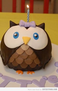 Cute Owl Cake Food Picture - Food Picture