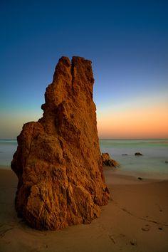 Sunset at El Matador Beach in California.