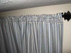 DIY curtains out of bed sheets!