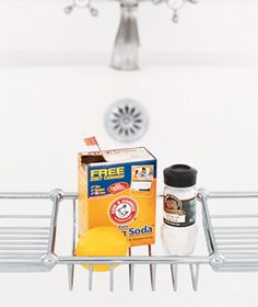 Baking soda used to clean tub stains