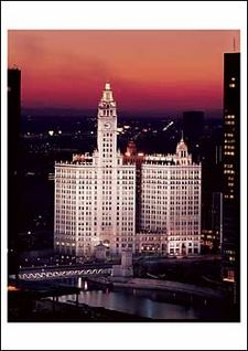 Wrigley Building, Chicago. Architects: Graham, Anderson, Probst & White. Photo by Marco Lorenzetti. Published with the Chicago Architecture Foundation.