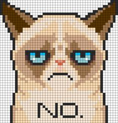 Grumpy Cat Cross stitch Pattern