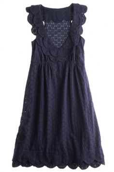 Navy Eyelet Dress- so cute!