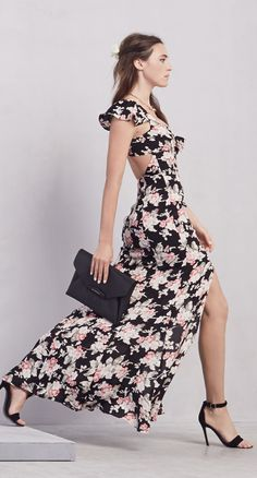 Floral Maxi Dress @Reformation Got the World by the Balls & Know It.  Confidence. So attractive