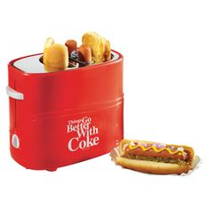 Dad will love this Nostalgia Electrics Coca-Cola Series Pop-Up Hot Dog Toaster.