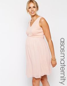 ASOS Maternity Exclusive Skater Dress with Scuba Top