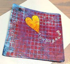 Sherri Bellah Frazier -- Gelli printed valentine!