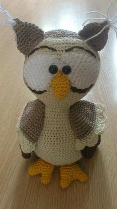 Crochet Halloween Owl. Made by Kayleigh (me), pattern by Mala Designs, pinned by Jansus&.