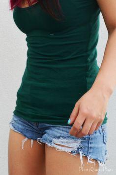 DIY Perfectly Distressed Denim Shorts