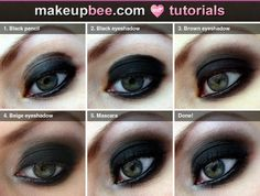 Step-By-Step #Tutorial for Classic smokey eye